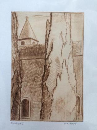 Kaltnadel Kirche in Bellinzona