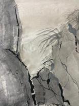 Tusche Ausschnitt Fels_und_Gräser
